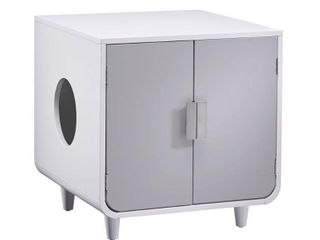Staart   Dyad Wooden Cat litter Box   Alpine White  Retail 139 97