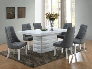 Grey Vinyl Kitchen Dinette Dining Chairs  Set of 2  Retail 296 99