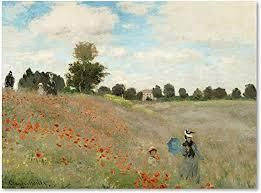 Claude Monet Poppy Field Near Argenteuil Gallery Wrapped Canvas  Retail 102 99