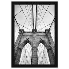 Americanflat 20x30 Black Poster Frame   Shatter Resistant Plexiglass   Hanging Hardware Included