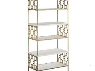 Cosmoliving by Cosmopolitan Ella 5 Shelf Bookcase  Retail 395 49