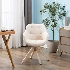 Swivel Armchair Fabric Accent Chair Dining Chair with Oak Wood legs  Retail 145 99