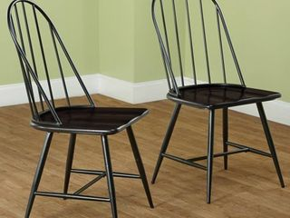 Simple living Milo Mixed Media Dining Chairs  Set of 2  Retail 114 99