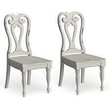 Magnolia Manor Antique White Splat Back Side Chair  Set of 2  Retail 381 49 antique white