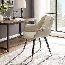 Carson Carrington Igelsjoberg Upholstery Armrest Accent Desk Chair  Retail 157 49 beige and grey