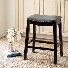 Copper Grove Divjake 26 in  Bonded leather Saddle Counter Stool  Retail 129 99 grey
