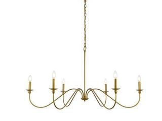 Rohan Collection 6 light Chandelier  Retail 153 00