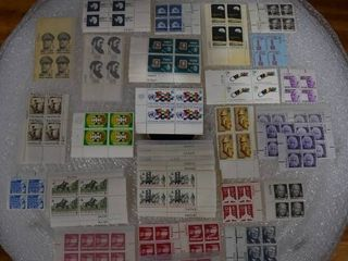 lot of Over 40 Stamp Plate Blocks