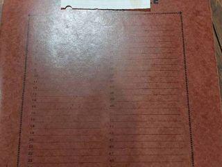 Vintage Merit Mint Sheet File Book   Includes Over 30 Assorted Mint Stamp Sheets