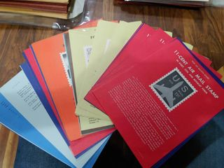 lot of Approximately 90 Vintage Post Office Bulletin Board Stamp Posters   Wide Variety of Posters