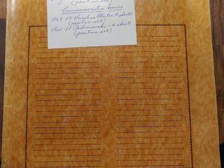 Vintage Mint Sheet File   Includes 17 Assorted Mint Stamp Sheets   Includes Some Complete Position Sets