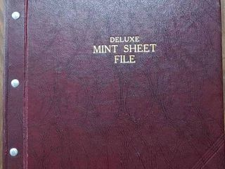 Vintage Deluxe Mint Sheet File Book | Includes Over 60 Assorted Mint Stamp Sheets
