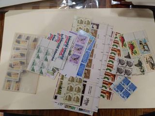 lot of Over 30 Assorted Stamps and Plate Blocks