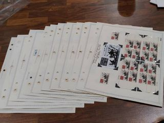lot of 10 Scott Stamp Album Pages With Stamps