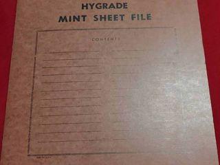 Vintage Hygrade Mint Sheet File Book   Includes 22 Assorted Mint Stamp Sheets