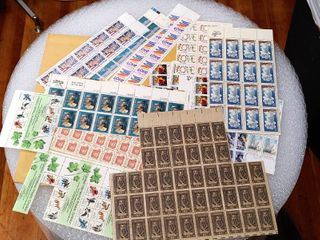 lot of Approximately 14 Assorted Stamp Sheets and Plate Blocks