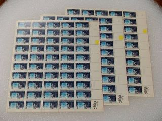 lot of 3 Mint Stamp Sheets of 1984 s Health Research 20 Cent Stamps   Scott Number   2087