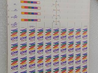 lot of 8 Mint Stamp Sheets of 1985 s love Series  love Crayon   Scott Number   2143