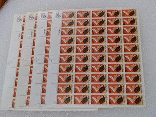 lot of 4 Mint Stamp Sheets of 1985 s Abigail Adams 22 Cent Stamps   Scott Number   2146