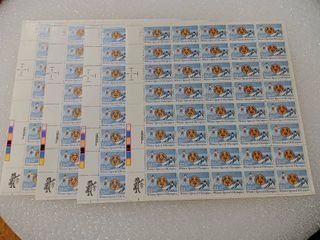 lot of 4 Mint Stamp Sheets of 1985 s Winter Special Olympics 22 Cent Stamps   Scott Number   2142