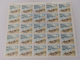 Mint Stamp Sheet of 1972 s National Parks Centennial  Cape Hatteras National Seashore 2 Cent Stamps   Scott Number   1448 51