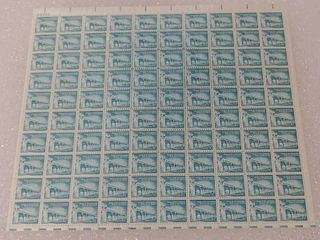 Mint Stamp Sheet of 1960 s liberty Series   Palace of the Governors 1 1 4 Cent Stamps   Scott Number   1031A