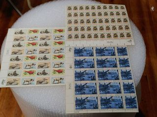 lot of 3 Assorted 8 Cent Mint Stamp Sheets   Scott Numbers   1480 83  1464 67    1508