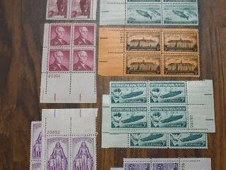 lot of 11 Stamp Plate Blocks