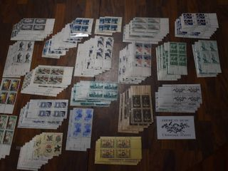 lot of Over 90 Stamp Plate Blocks