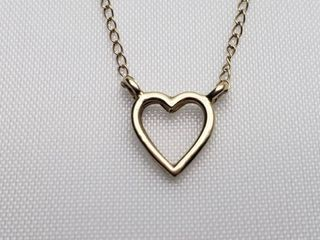 14K Yellow Gold Heart Necklace    7g