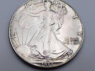 1987 American Eagle 1 oz  999 Silver Walking liberty Dollar
