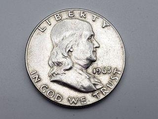 1963 D Franklin Half Dollar 90  Silver