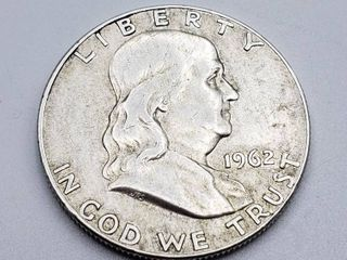 1962 D Franklin Half Dollar 90  Silver