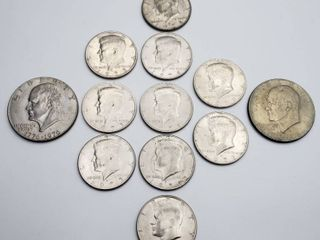 Ike Dollars and Kennedy Half Dollars