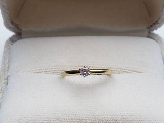 14K Yellow Gold Diamond Ring   Size 4