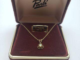 Australian Opal 1 20th 14K GF 18 in  Necklace