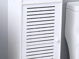 Three Compartments Bathroom Storage Cabinet w  Drawer Door