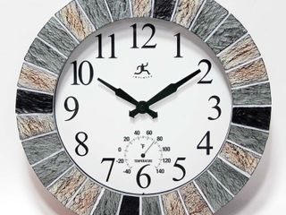 13  Indoor Outdoor Faux Slate Clock