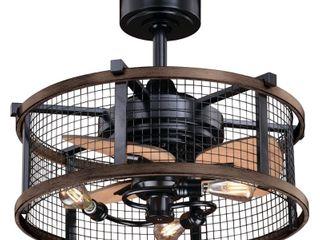 Carbon loft Montrese Teak 21 Ceiling Fan w  Remote