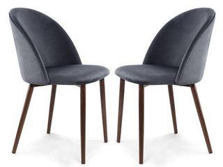 Edgemod Sedona Velvet Dining Chair   Set of 2