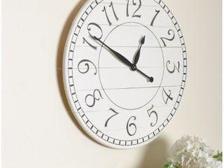 36  Oversized Wood Farmhouse Charm Wall Clock