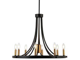 Urbanna 27  9 light Adjustable Modern lED Chandelier  Black Brass Gold Retail 285 99