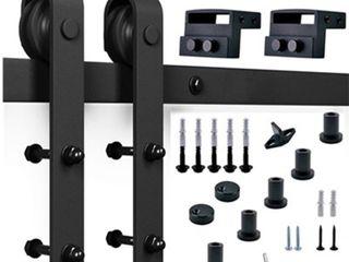 Paneled Wood Barn Door Installation Hardware Kit