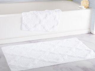 Windsor Home 100  Cotton 2 Piece Trellis Bath Rug Set