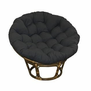 Blazing Needles 52  Solid Twill Papasan Cushion