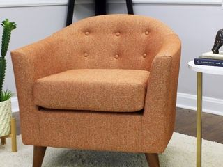 Carson Carrington Ulatti Mid century Modern Splayed leg Accent Chair Retail 219 99
