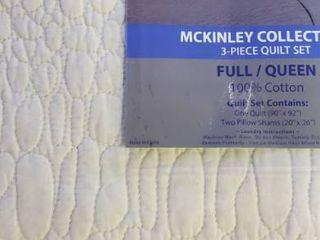 Miranda Haus Sutherland Cotton Quilt Set   Queen Full