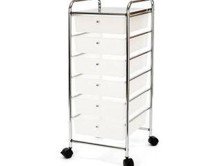 Seville Classics 6 Drawer Storage Bin Organizer Rolling Cart