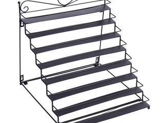 8 Tier Metal Nail Polish Display Organizer Wall Rack Holder