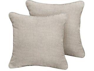 Humble   Haute Sunbrella Cast Silver Indoor Outdoor Corded Pillow Set of 2